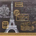 decoupage ubrousek Paris černý