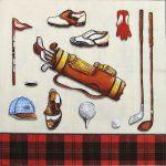 decoupage ubrousek golfové vybavení