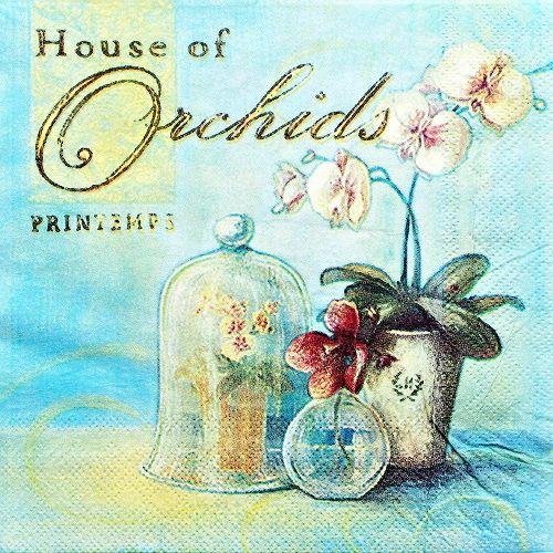 decoupage ubrousek orchidej