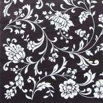 decoupage ubrousek bílé květy