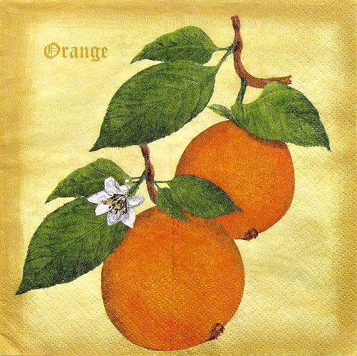 decoupage ubrousek pomeranče