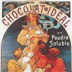 decoupage ubrousek reklama na čokoládu