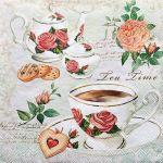 decoupage ubrousek čaj