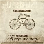 decoupage ubrousek Life is like ...