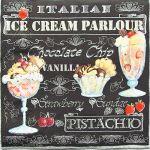 decoupage ubrousek zmrzlinové poháry