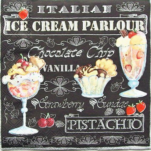 ubrousky na decoupage zmrzlina
