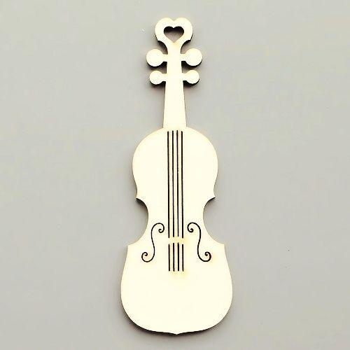 výřez z překližky housle