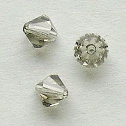 broušené perle šedé