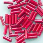 červený mramor válečky