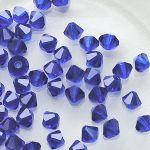 cínovky broušené modré 5 mm