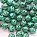malachit korálky kuličky